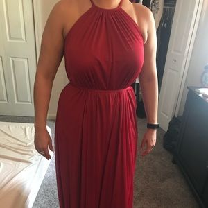 Apple color bridesmaid dress size 4 used once